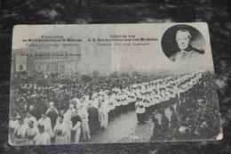 283    Lijkstoet Van Z. E. Den Aartsbisschop Van Mechelen   Prelaten.  Het Groot Seminaris  1908 - Malines
