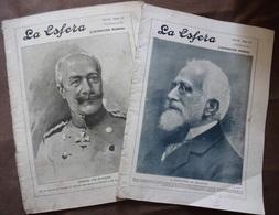 ESPAGNE: LOT 2 Revues LA ESFERA 1915 Art-première Guerre Mondiale-poésie-visite - Magazines & Newspapers