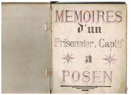 LIVRE MANUSCRIT - PIECE UNIQUE -GUERRE 1870.Texte De La Lettre à VICTOR HUGO Par TAILLEFER Prisonnier à POSEN - Livres, BD, Revues