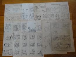 Lot De 43 Gravures De Presse Datees De 1894 A 1908 Illustrateur Caran D'ache - Vieux Papiers