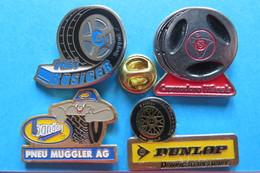 Lot  4 Pin's, Pneu, Dunlop, Etc - Badges