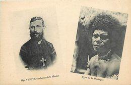 Pays Div-ref L289- Papouasie - Nouvelle Guinée -mgr Verjus Fondateur De La Mission - Type De La Montagne  - - Papua Nuova Guinea