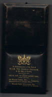 Souvenir Visite Du Kaiser à Londres 1891 Attention Boite Sans Medaille - Army & War