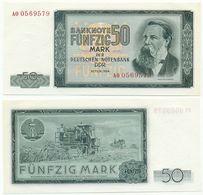 DDR 1964, 50 Mark, Deutsche Notenbank, F. Engels, KN 7stellig, Geldschein, Banknote - [ 6] 1949-1990 : GDR - German Dem. Rep.