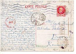 Carte 2f40 Pétain Du 18 VIII 43 Pour La ROUMANIE - Censure - Standard Postcards & Stamped On Demand (before 1995)