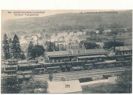 SAINT SULPICE LAURIERE - La Gare, Cachet Militaire Gare De Rassemblement - 2 Scans - France