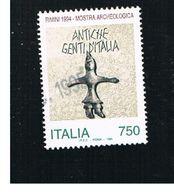 ITALIA REPUBBLICA  - UNIF. 2143  -   1994 MOSTRA ARCHEOLOGICA, RIMINI  -            USATO - 6. 1946-.. Repubblica