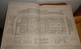 Plan De La Maison Municipale De Santé Du Faubourg Saint Denis à Paris. Ancienne Maison Dubois. 1860 - Travaux Publics