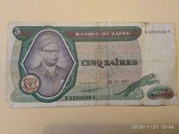 5 Zaires 1977 - Zaire