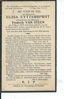 B.P. KALKEN UYTTERSPROT ELISA 1875 - 1932 - Religion &  Esoterik
