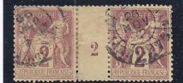 SAGE N° 85   TYPE II C   CACHET AFFRANCHISSEMENTS  AVEC INTERPANNEAU MILESIME 1892  -REF 14017 - 1876-1898 Sage (Type II)