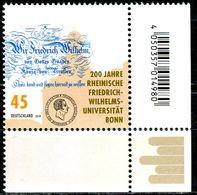 BRD - Michel 3360 ECKE REU - ** Postfrisch (D) - 45C   200 J. Friedrich-Wilhelms-Uni Bonn - Ausgabe: 01.02.2018 - [7] Repubblica Federale