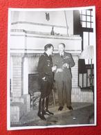 ARTHUR BARRATT ROYAL AIR FORCE GENERAL MENDIGAL 1940 ARCHIVES PHOTO DEDE A BRUXELLES 20 X 14.5 - Guerre, Militaire
