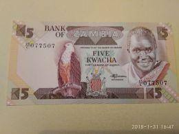 5 Kwacha 1980-88 - Zambie