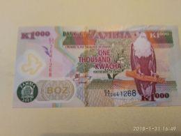 1000 Kwacha 2009 - Zambie