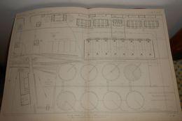 Plan Général De L'usine à Gaz De La Villette à Paris. 1860 - Travaux Publics