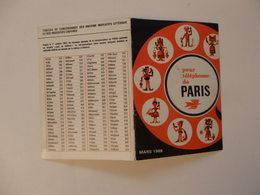 Indicatif Téléphonique Pour Téléphoner De Paris Vers La Province. - Vieux Papiers