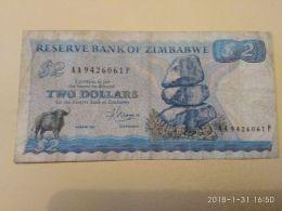 2 Dollars  1983 - Zimbabwe