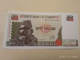 50 Dollars  1994 - Zimbabwe