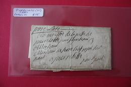 Pierrelatte Circa 1695 Taxée 3 Pliage - Marcophilie (Lettres)