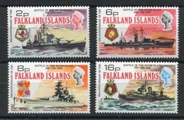 RC 6929 FALKLAND 231 / 234 - BATAILLE DE RIO DE LA PLATA NAVIRES DE GUERRE NEUF ** TB - Falkland Islands
