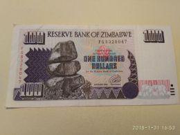 100 Dollars  1995 - Zimbabwe