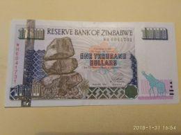 1000 Dollars  2003 - Zimbabwe