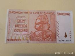 50000000000  Dollars  2008 - Zimbabwe