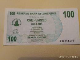 100  Dollars  2007 - Zimbabwe