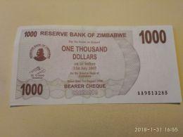 1000  Dollars  2007 - Zimbabwe