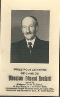 Souvenir Mortuaire - EDMOND GOULARD Epoux CLAIRE HUBERT - LE BRULY1899 / CUL-DES-SARTS 1953 - Avvisi Di Necrologio