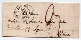 Lac Bourg (Ain) Pour Lyon Càd Type 12 Et 13 Du 28 Octobre 1833 + Taxe Manuscrite 3 Décimes X 2 - Marcophilie (Lettres)