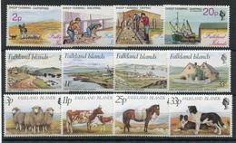 RC 6931 FALKLAND - ELEVAGE MOUTONS FERME  3 SERIES COMPLETES NEUF ** TB - Falkland Islands