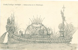 020/30  GAND  - Carte  Illustrée  Cortège Nautique - Embarcation De La Métallurgie. No 3 - Gent
