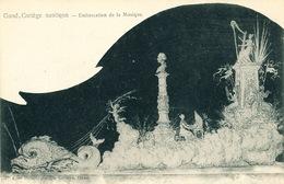 021/30  GAND  - Carte  Illustrée  Cortège Nautique - Embarcation De La Musique. No 4 - Gent
