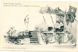 022/30  GAND  - Carte  Illustrée  Cortège Nautique - Embarcation Des Belles Lettres Flamandes & Francaises. No 17 - Gent
