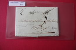 Lettre 1797 HAMBOURG Entrée Pour Bordeaux - Storia Postale