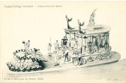 023/30  GAND  - Carte  Illustrée  Cortège Nautique - Embarcation Des Sports. No 18 - Gent