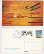 1977 ROME AIRPORT Air Force AVIATION MUSEUM Inauguration EVENT COVER Aircraft  Postcard Stamps Italy Flight - Transports