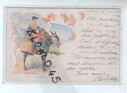 06 Nice - Paysanne Sur La Côte D'Azur - Animée Femme Sur Son âne - Illustrateur DOUHIN - CPA Précurseur - Andere