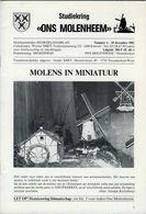 Thema: Molen/moulin - Tijdschrift ONS MOLENHEEM December 1982. Deurne, Opitter, Kieldrecht, Aartselaar Enz. - Tijdschriften