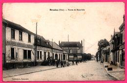 Bresles - Route De Beauvais - Hôtel Rest. Café LIONNET - Auto Moto - Animée - Agricoles Et Aratoires - H. AMIOT Atelier - France