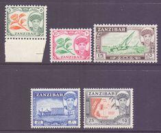 Zanzibar Scott 264/268 - SG373/377, 1961 Sultan 5c - 25c MNH** - Zanzibar (...-1963)