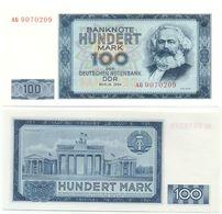 DDR 1964, 100 Mark, Deutsche Notenbank, K. Marx, KN 7stellig, Geldschein, Banknote - 100 Deutsche Mark