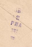 Cachet Horodatage PNA PNEUMATIQUE PARIS 64 38 R. DE LOURMEL. 1943. - Marcophilie (Lettres)