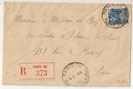 PNEUMATIQUE PARIS 28 RUE DE PONTOISE 1931. - Marcophilie (Lettres)