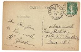 Cahet Tireté ESSOMES S/ MARNE Aisne. - Marcophilie (Lettres)