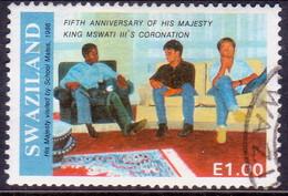 SWAZILAND 1991 SG 590 1e Used 5th Anniv King's Coronation - Swaziland (1968-...)