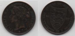 + JERSEY + 1/12 SHILLING 1877 + - Jersey
