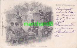 Afrique Ghana Village Achanti Joueurs Indigènes Le Coiffeur - Ghana - Gold Coast